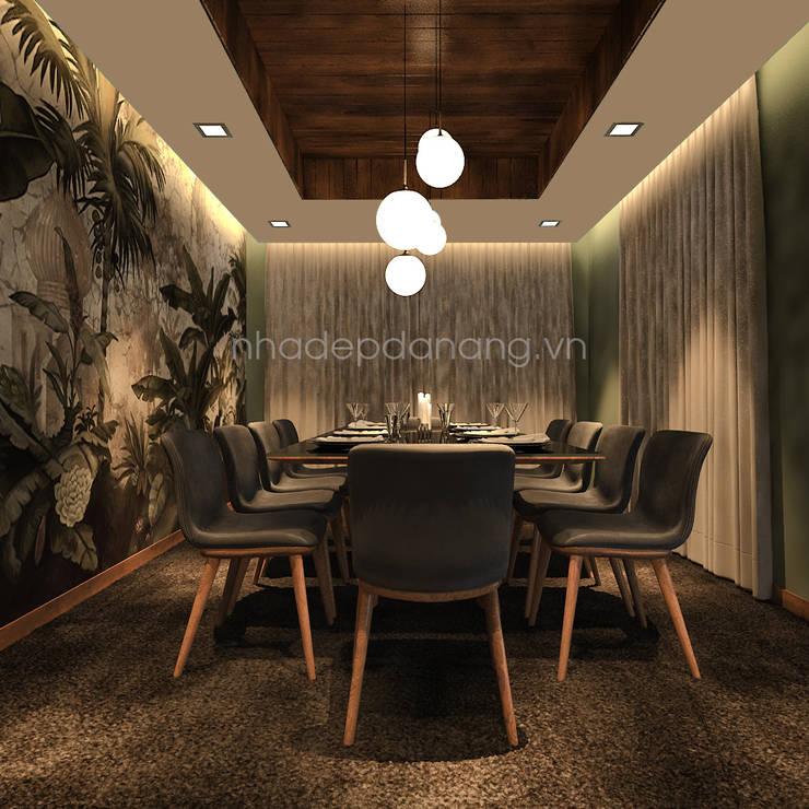 Mẫu thiết kế biệt thự đẹp:  Phòng ăn by AVA Architecture