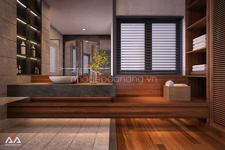 Mẫu thiết kế biệt thự đẹp:  Phòng ngủ by AVA Architecture