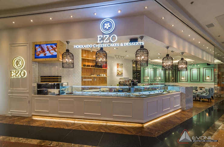 EZO Cheesecakes Bakery - Mall Taman Anggrek:  Restoran by Evonil Architecture