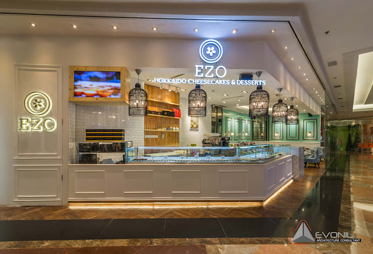 EZO Cheesecakes Bakery – Mall Taman Anggrek:  Restoran by Evonil Architecture