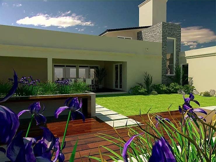 Vivienda : Jardines de estilo  por VI Arquitectura & Dis. Interior,