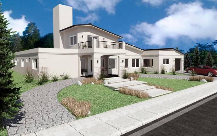 Vivienda : Casas de estilo  por VI Arquitectura & Dis. Interior,