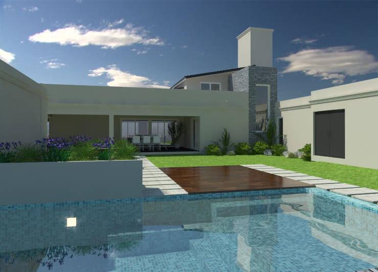 Vivienda : Piletas de estilo  por VI Arquitectura & Dis. Interior,