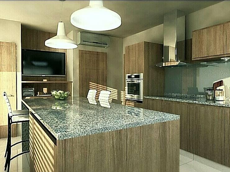 Cocina y comedor diario : Cocinas de estilo  por VI Arquitectura & Dis. Interior