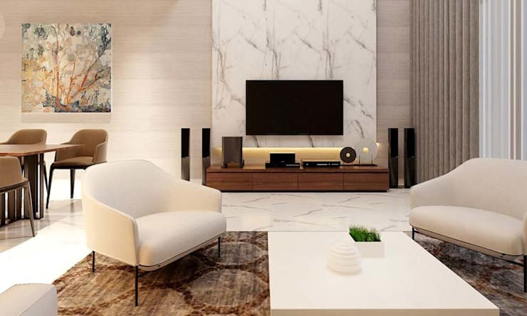 thiết kế nội thất phòng khách hiện đại:  Phòng khách by CÔNG TY THIẾT KẾ NHÀ ĐẸP SANG TRỌNG