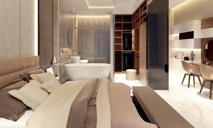 phòng ngủ đẹp:  Phòng ngủ by CÔNG TY THIẾT KẾ NHÀ ĐẸP SANG TRỌNG