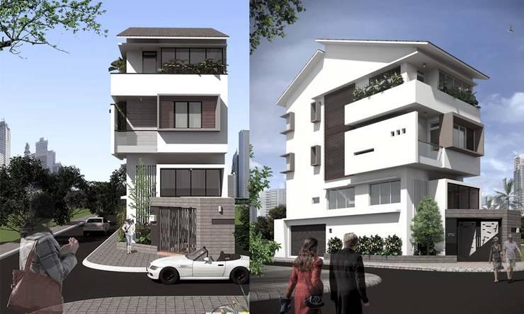 nhà phố đẹp:  Cửa trước by CÔNG TY THIẾT KẾ NHÀ ĐẸP SANG TRỌNG