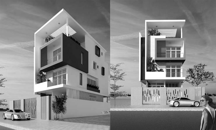 thiết kế kiến trúc nhà phố:  Cửa trước by CÔNG TY THIẾT KẾ NHÀ ĐẸP SANG TRỌNG