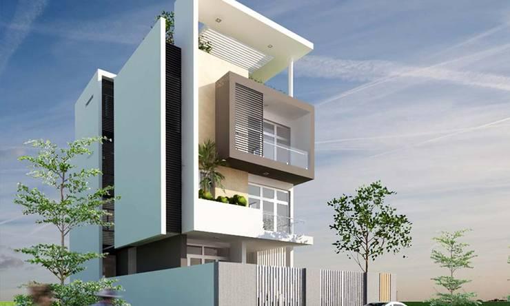 thiết kế nhà phố hiện đại:  Biệt thự by CÔNG TY THIẾT KẾ NHÀ ĐẸP SANG TRỌNG