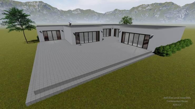 รับออกแบบและก่อสร้างบ้านสไตล์ร่วมสมัย ภาคเหนือ:  อาคารสำนักงาน by คิดดี ดีไซน์ แอนด์ คอนสตรัคชั่น
