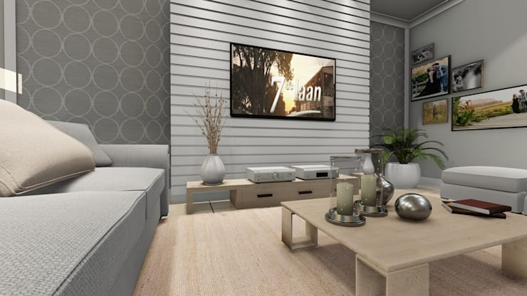 Lining Room desing:  Living room by A&L 3D Specialists