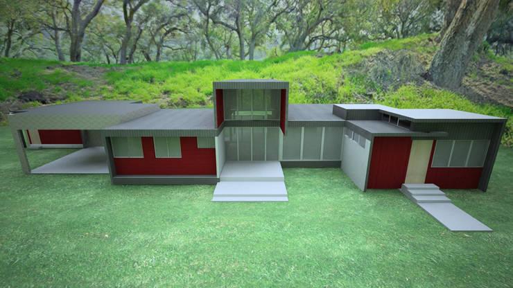 VIVIENDA FACHADA SUR: Casas unifamiliares de estilo  por ARKITEKTURA