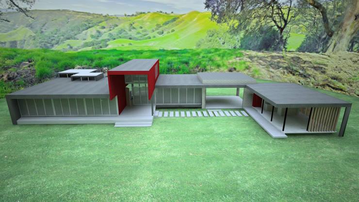 VIVIENDA FACHADA NORTE: Casas unifamiliares de estilo  por ARKITEKTURA