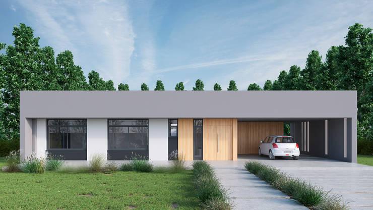 Lote 50 – Plaza Pueblo: Casas unifamiliares de estilo  por WGS SRL,
