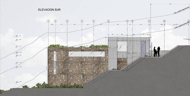 Elevación Sur:  de estilo  por LEON CAMPINO ARQUITECTURA SPA