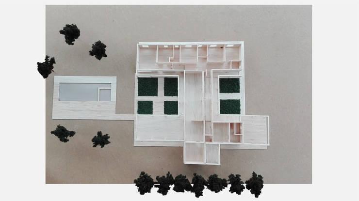 Vista en planta:  de estilo  por LEON CAMPINO ARQUITECTURA SPA