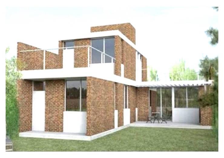 ECONOMÍA  Y  BELLEZA ESTÉTICA  A SU  SERVICIO: Casas unifamiliares de estilo  por MIKASALISTA CA, Minimalista Ladrillos