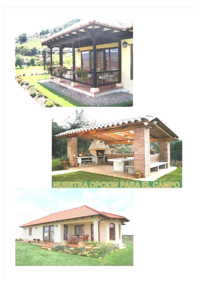 NUESTRA  OPCIÓN PARA  CASA DE  CAMPO-PLAYA-MONTAÑA: Casas campestres de estilo  por MIKASALISTA CA, Tropical Ladrillos