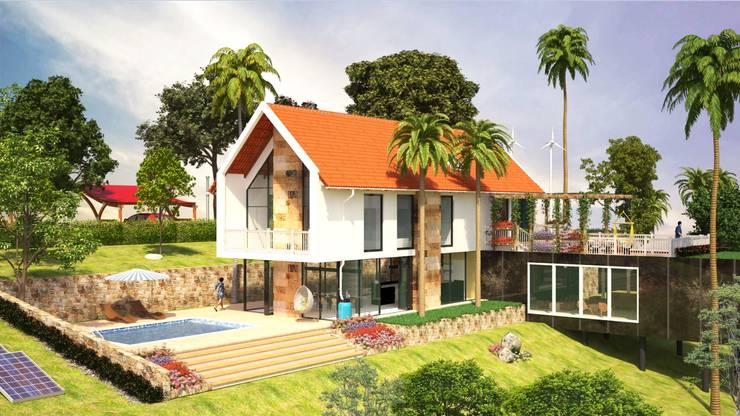 Vista General: Casas campestres de estilo  por A.BORNACELLI, Moderno