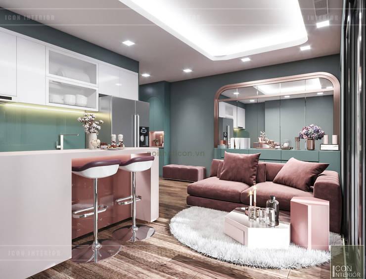 Đẹp Khác Biệt với Thiết kế căn hộ Landmark 81 của ICON INTERIOR:  Nhà bếp by ICON INTERIOR