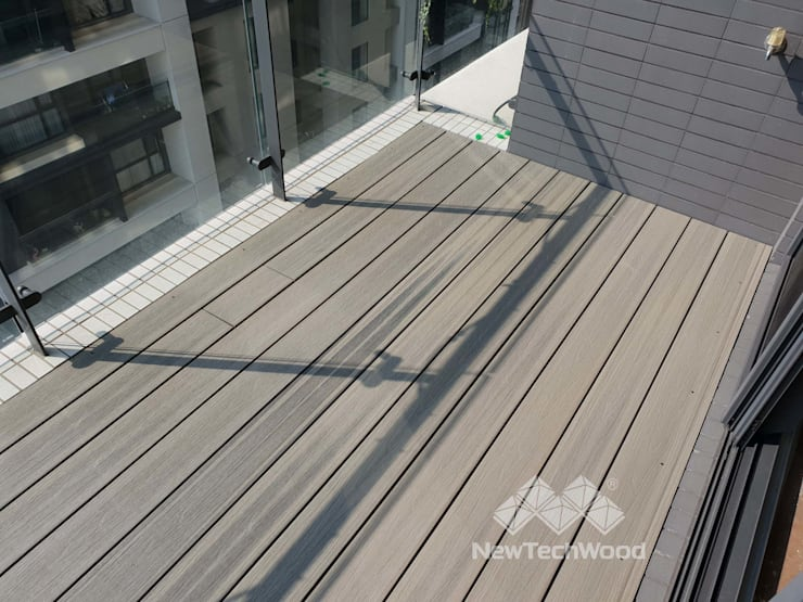 Escaleras de estilo  de 新綠境實業有限公司, Escandinavo Compuestos de madera y plástico