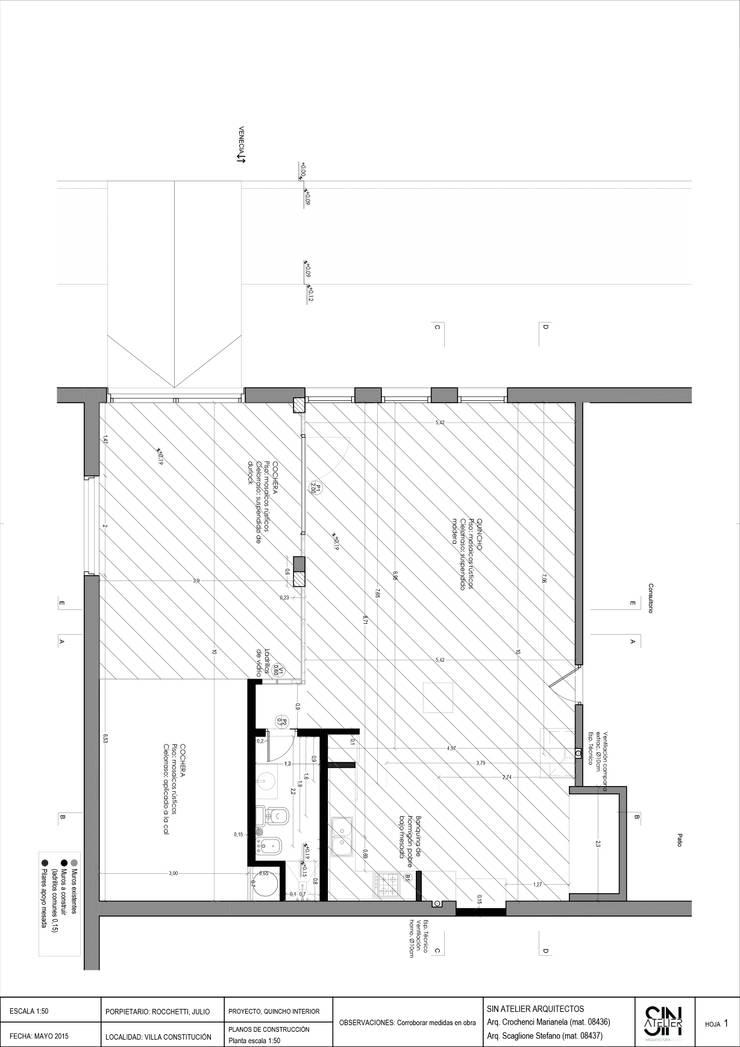 Quincho Rocchetti :  de estilo  por Sin Atelier - Arquitectura y Diseño ,