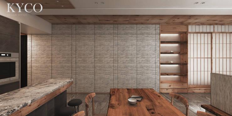 蘆洲林宅(日式簡約):  餐廳 by 芮晟設計事務所