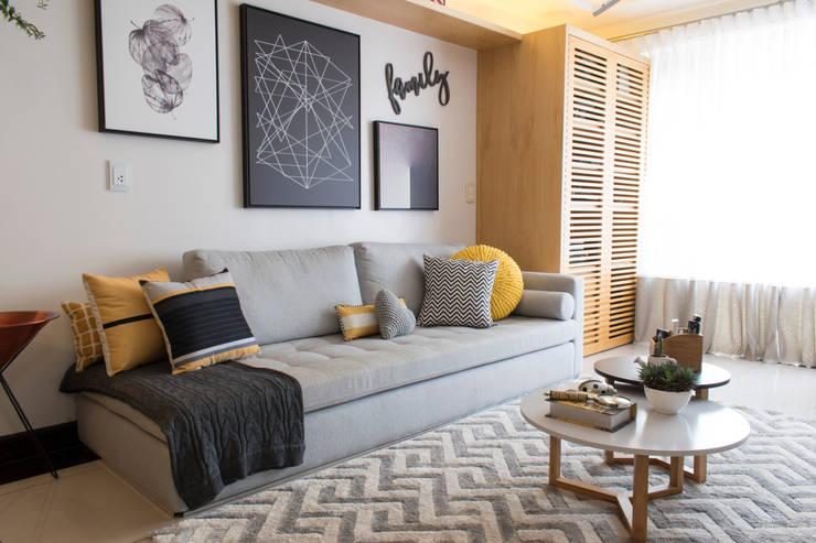 Living room by CORES - Arquitetura e Interiores, Modern