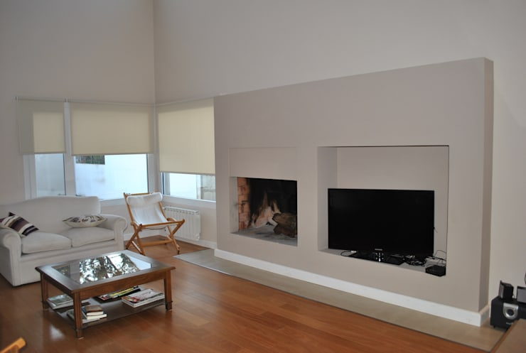 Casa BM: Livings de estilo  por Gomez Vidaguren Arquitectos,