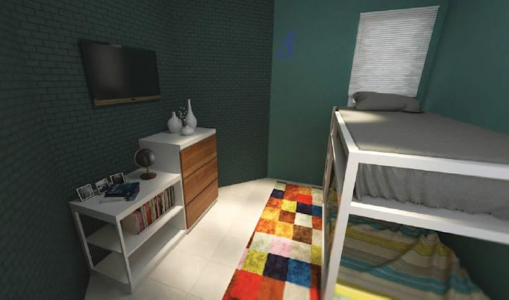 The Kinder House - Pejaten, Jakarta Selatan (Kamar Anak):  Kamar tidur anak by Asta Karya Studio