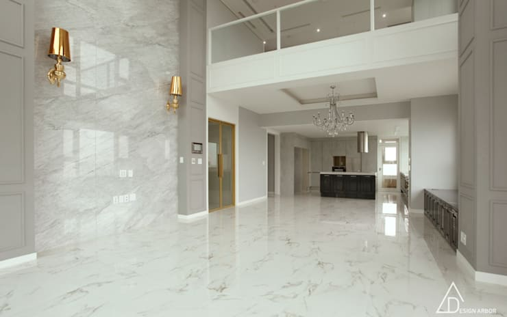 호텔같은 복층 펜트하우스 인테리어: 디자인 아버의  주방