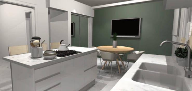 Render: Muebles de cocinas de estilo  por A3 arquitectas - Salta