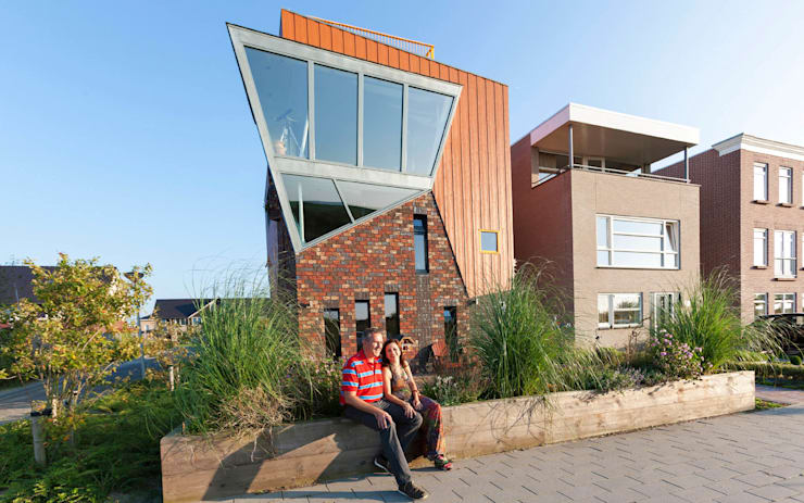 Casa Mirador Almere Noorderplassen | Arc2 architecten:  Villa door Arc2 architecten, Modern Houtcomposiet