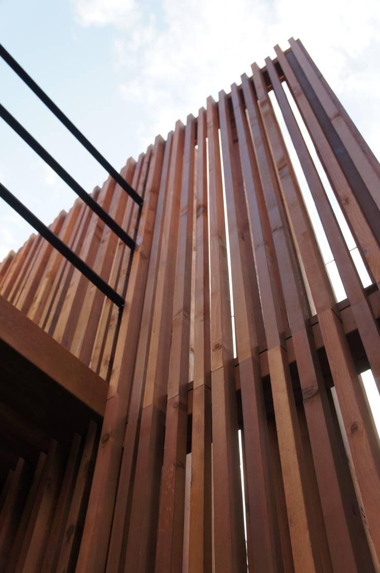 一級建築士事務所A-SA工房의  벽, 모던 우드 우드 그레인