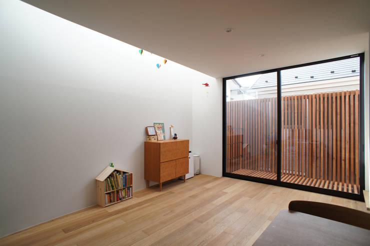 一級建築士事務所A-SA工房의  거실, 모던 우드 우드 그레인