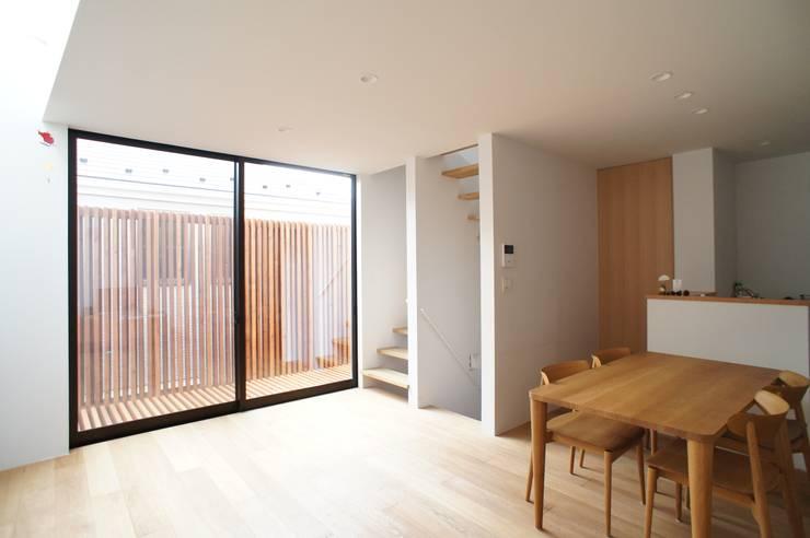 一級建築士事務所A-SA工房의  다이닝 룸, 모던 우드 우드 그레인