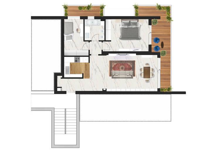 Progetto ristrutturazione appartamento 60mq a roma for Planimetria appartamento