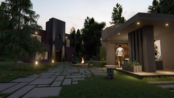 Casa en el bosque:  de estilo  por LM Studio