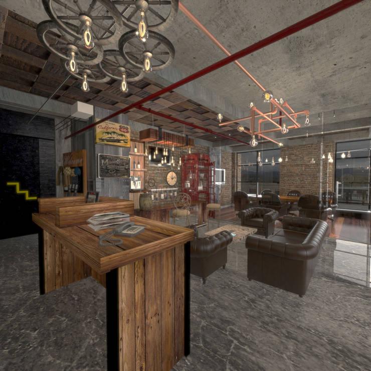 oficina San Roque Cajica : Oficinas y tiendas de estilo  por jaguarq3destudio