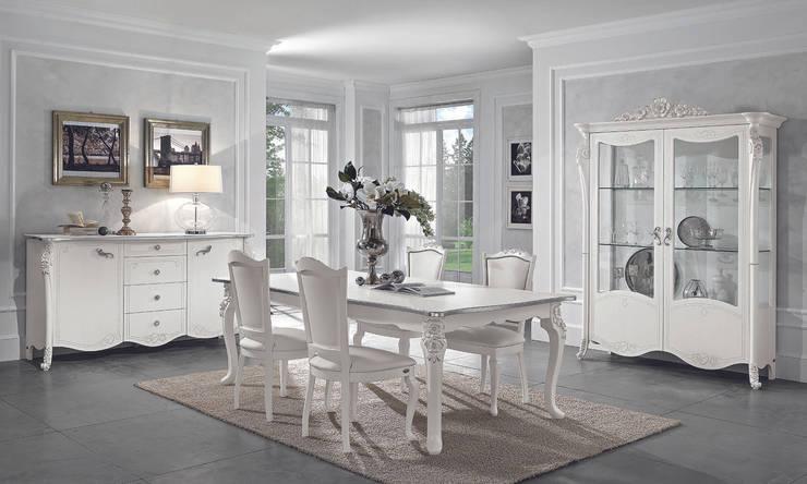 Wohnzimmer Set Viola Bianca In Weiß Silber Klassische