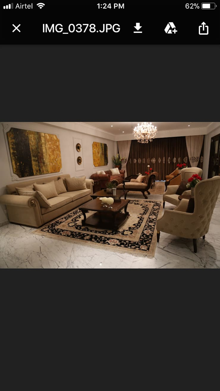 Residence at Gurgaon:  Living room by Tigerlily Design,Asian