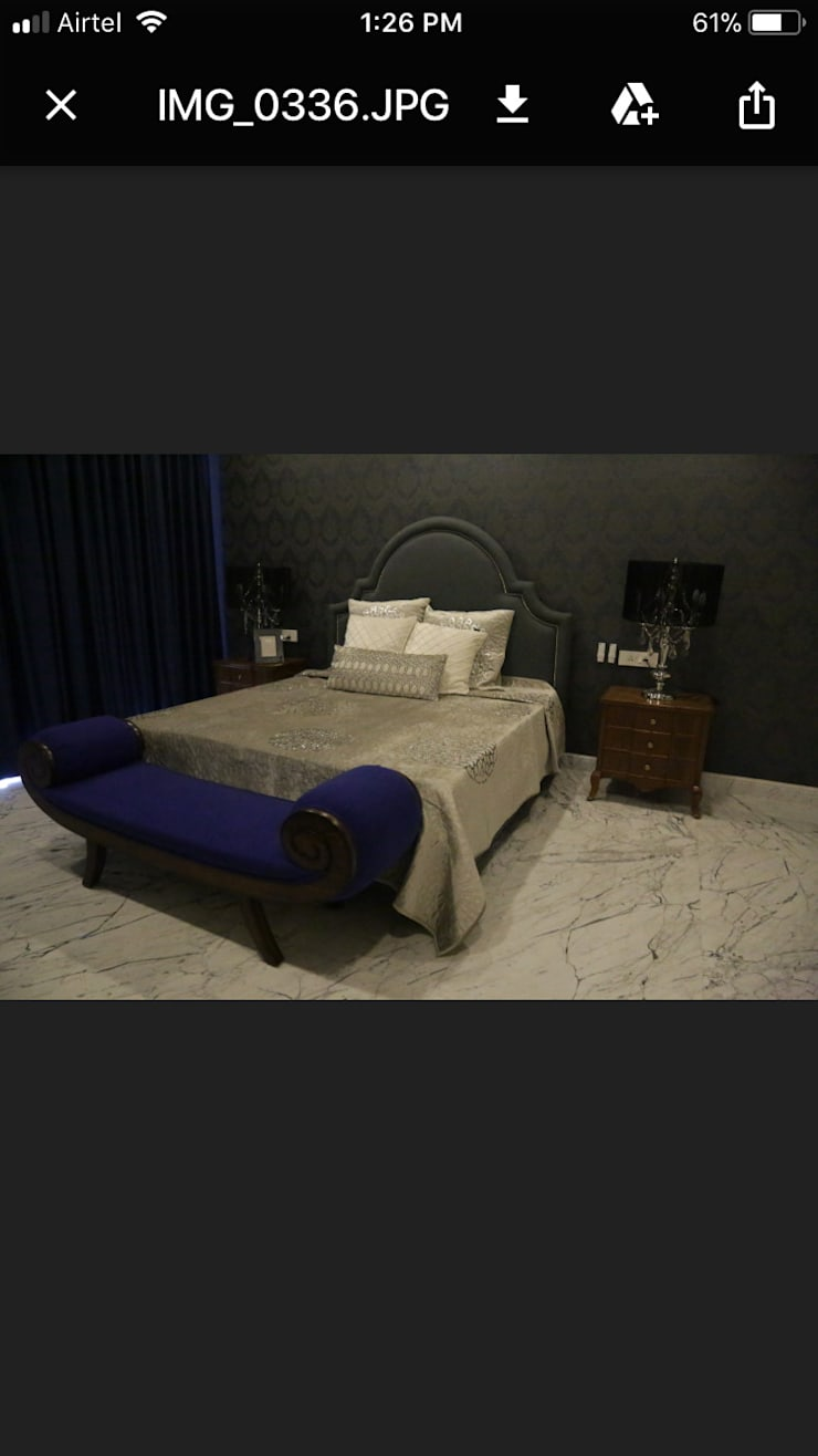 Residence at Gurgaon:  Bedroom by Tigerlily Design,Asian