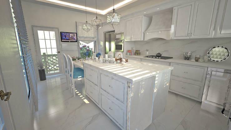 50GR Mimarlık – Toskana_villa:  tarz Mutfak