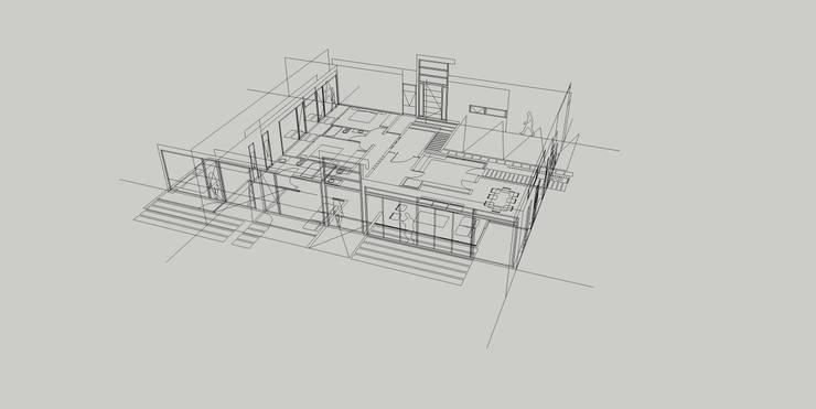 Casa Hijuelas:  de estilo  por MMAD studio - arquitectura & mobiliario -