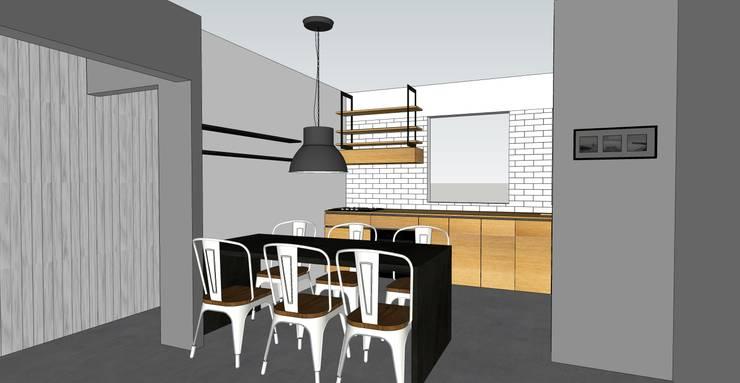 Depto FM:  de estilo  por MMAD studio - arquitectura & mobiliario -