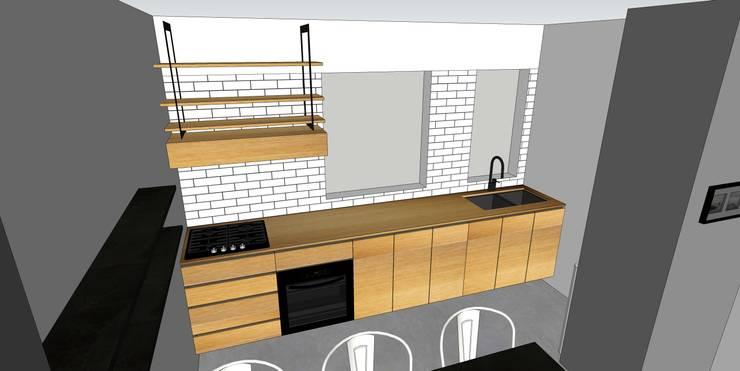 Depto FM: Cocina de estilo  por MMAD studio - arquitectura & mobiliario -