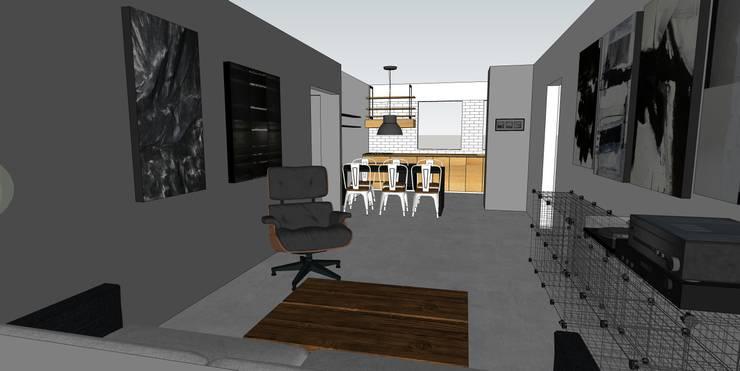 remodelación departamento habitacional:  de estilo  por MMAD studio - arquitectura & mobiliario -
