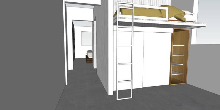 Depto FM: Recámaras de estilo  por MMAD studio - arquitectura & mobiliario -