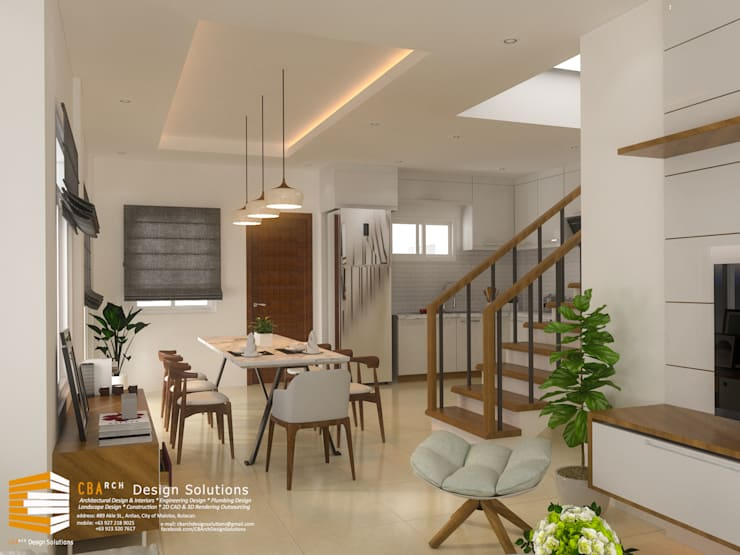Dining Area Interior Perspective:  Dining room by CB.Arch Design Solutions