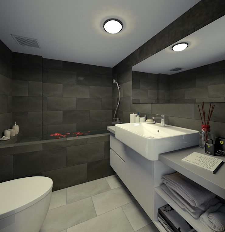 Balance 3D設計概念圖:  浴室 by 有偶設計 YOO Design